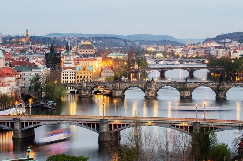 Bruggen van Praag, Tsjechische Republiek royalty-vrije stock foto's