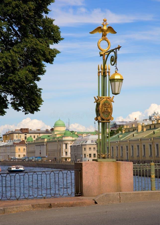 Bruggen Van St. Petersburg Stock Foto