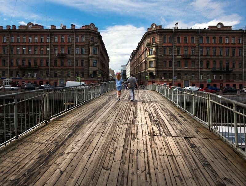 Bruggen van St Petersburg Rusland royalty-vrije stock afbeelding