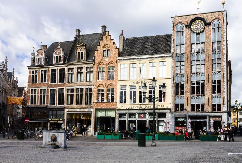 Brugges Markt比利时 免版税库存照片
