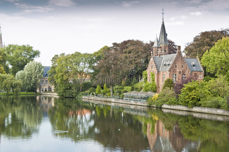 brugges minnewater 图库摄影