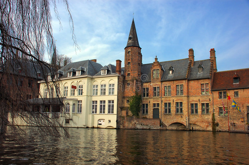 brugia Brugge kanału widok obrazy royalty free