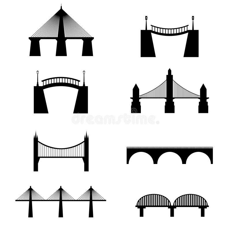 Brugpictogrammen royalty-vrije illustratie