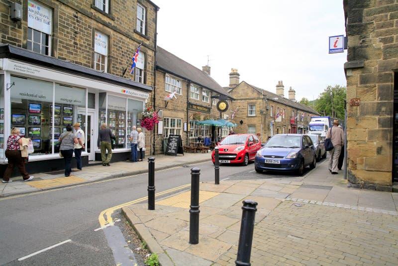 Brugstraat, Bakewell, Derbyshire stock afbeelding