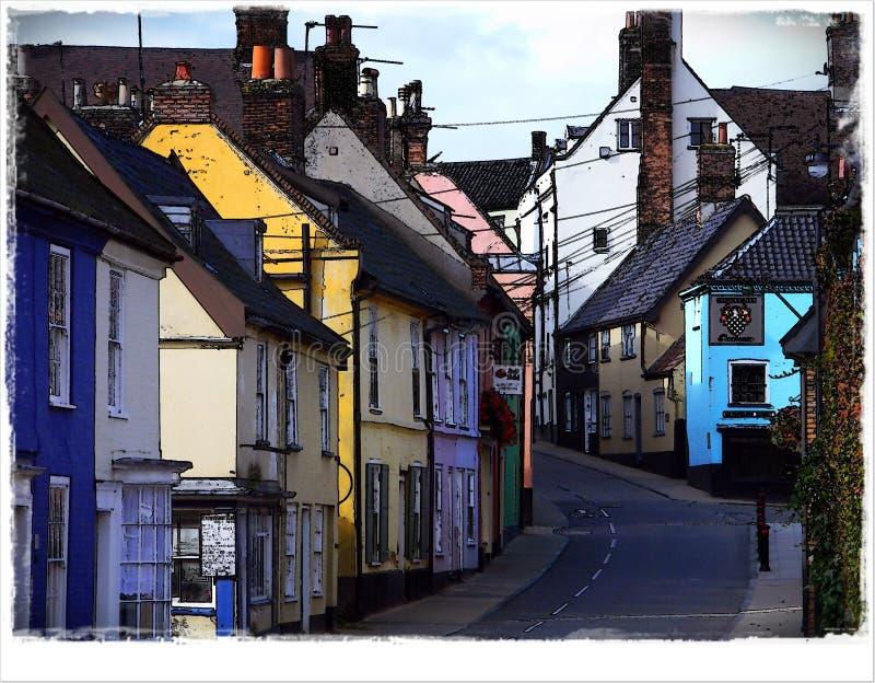 Brugstraat Bungay Suffolk royalty-vrije stock afbeeldingen