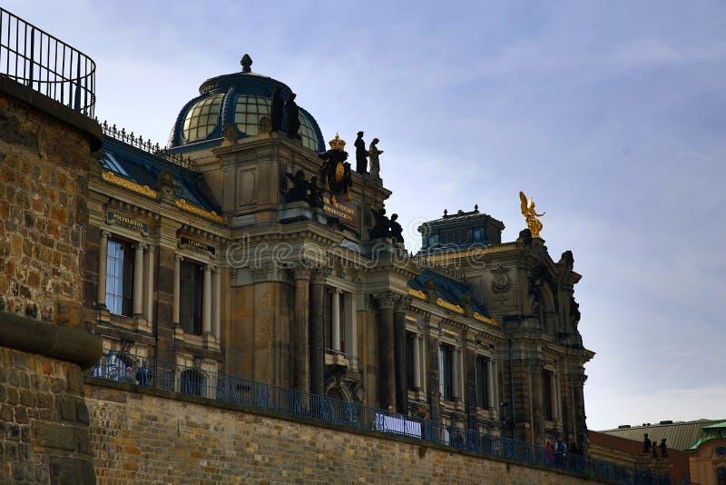 Bruhl的大阳台在德累斯顿,德国的中心 库存图片