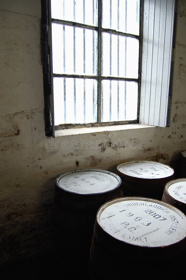Bruichladdich distillery royalty free stock photography