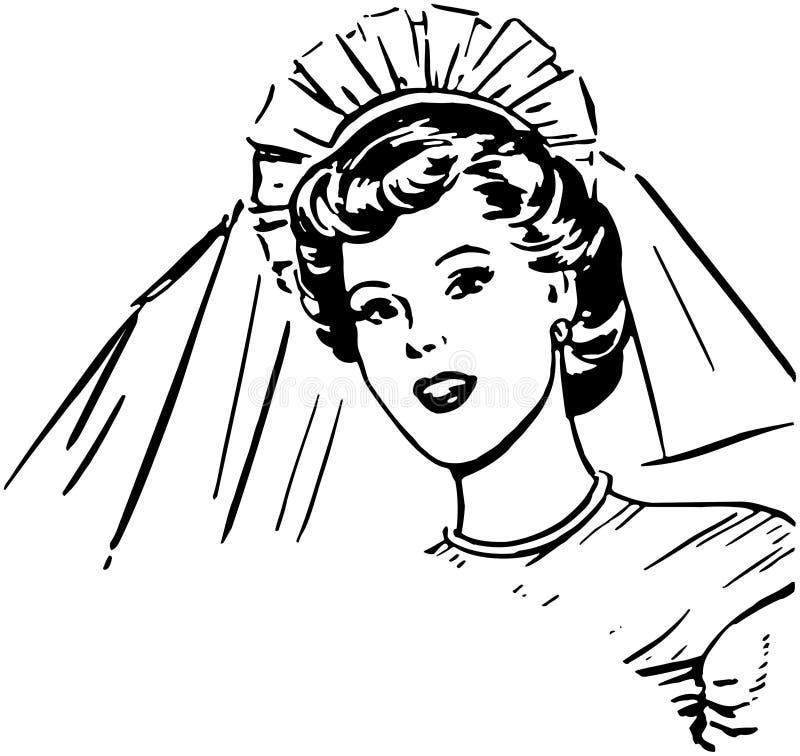 Bruid royalty-vrije illustratie