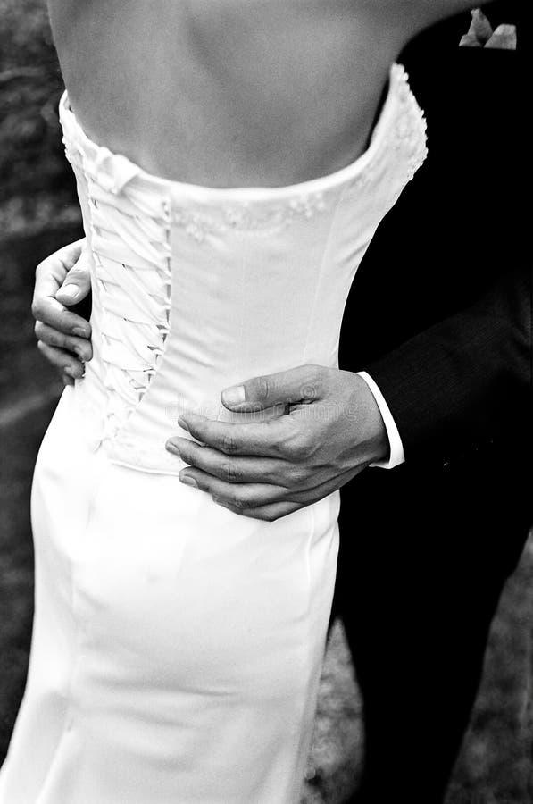 Bruid & bruidegom stock afbeelding