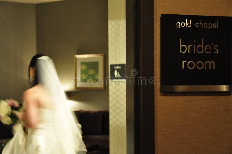 Bruid in de Zaal van de Voorbereiding van de Bruid royalty-vrije stock foto