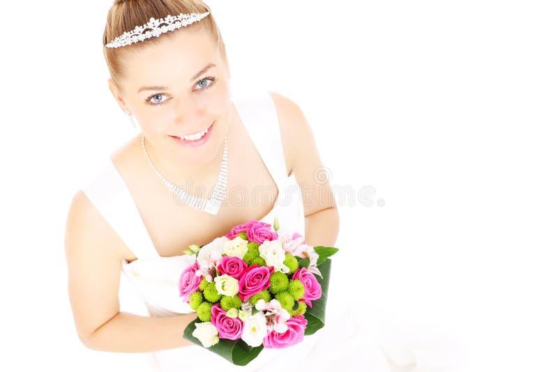 Bruid en bloemen royalty-vrije stock foto
