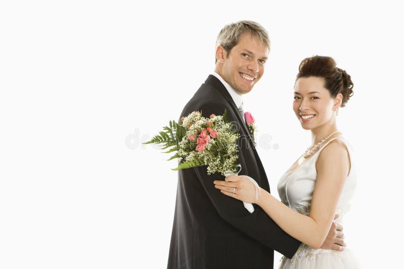 Bruid en bruidegom. stock fotografie