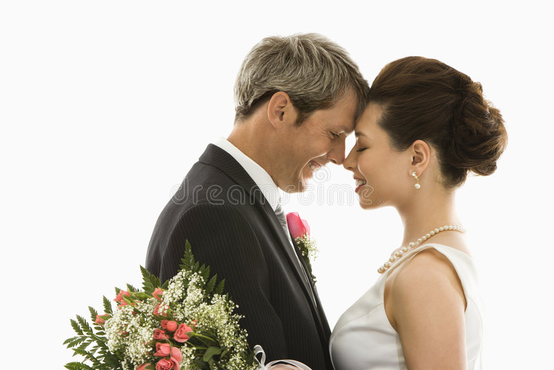 Bruid en bruidegom. royalty-vrije stock afbeelding