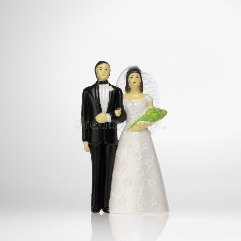 Bruid en bruidegom royalty-vrije stock fotografie