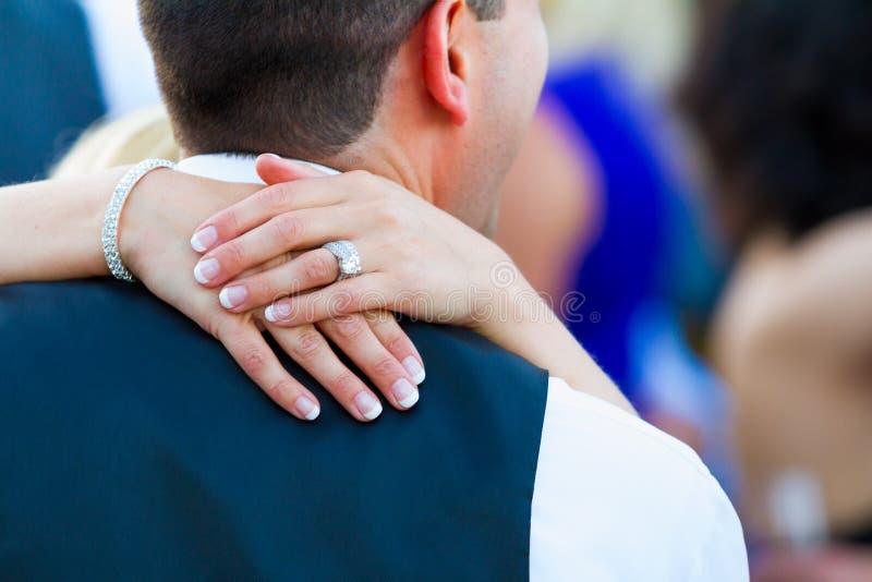Bruid en Bruidegom First Dance stock afbeeldingen