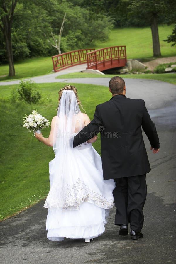 Bruid en Bruidegom - het paar van het Huwelijk in liefdereeks stock afbeeldingen