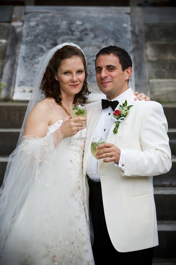 Bruid en Bruidegom - Huwelijk royalty-vrije stock afbeelding