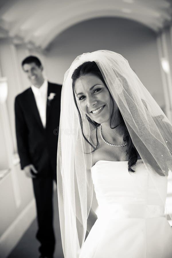 Bruid en Bruidegom - huwelijk stock foto