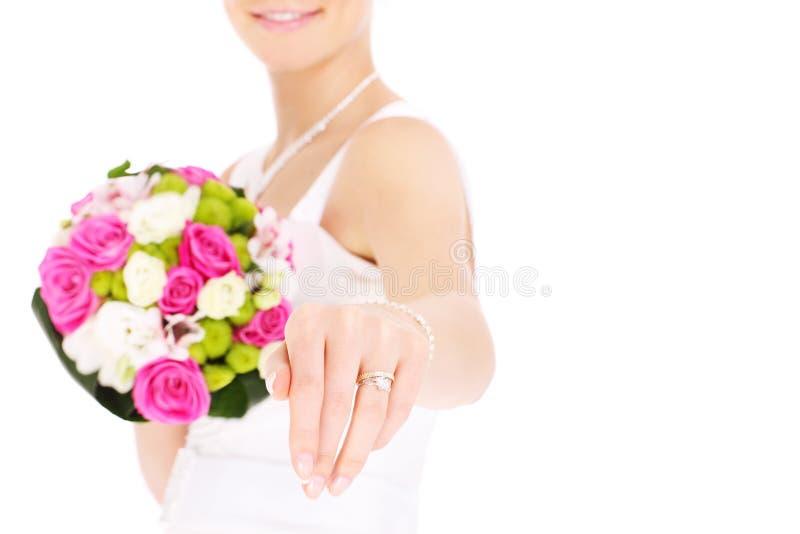 Bruid en haar ring royalty-vrije stock foto's