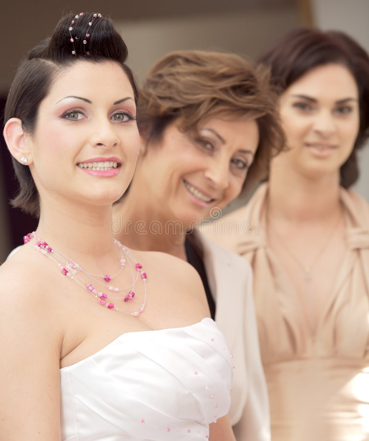 Bruid en opkomst stock afbeeldingen