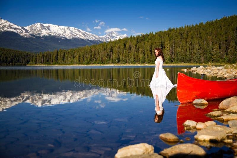 Bruid in het Water royalty-vrije stock fotografie