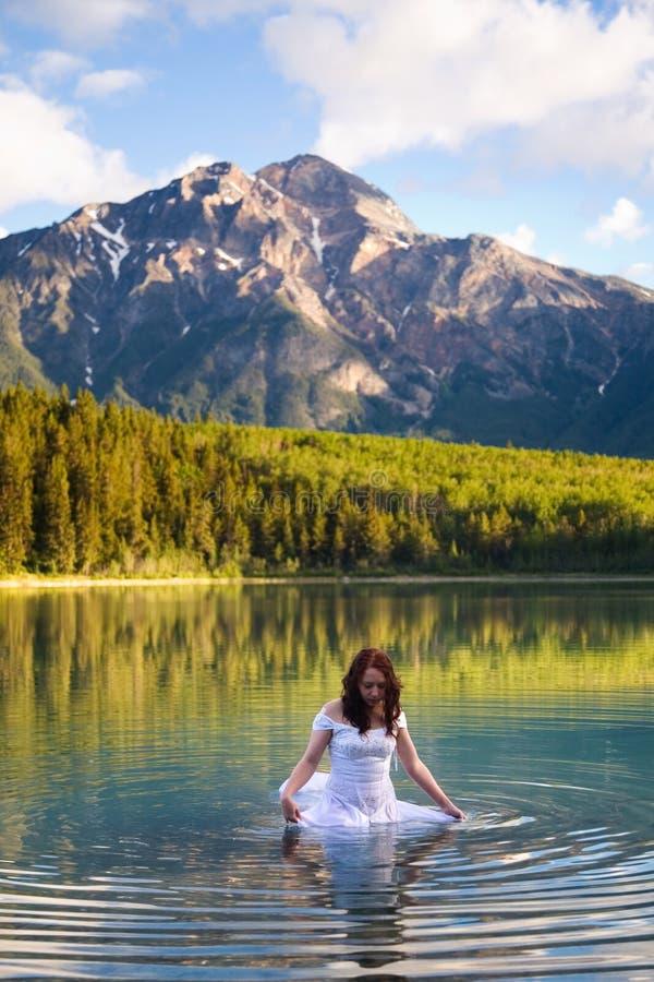 Bruid in het Water stock afbeeldingen