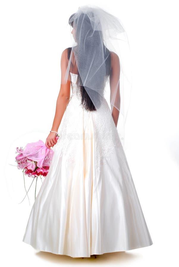 Bruid met boeket royalty-vrije stock afbeelding