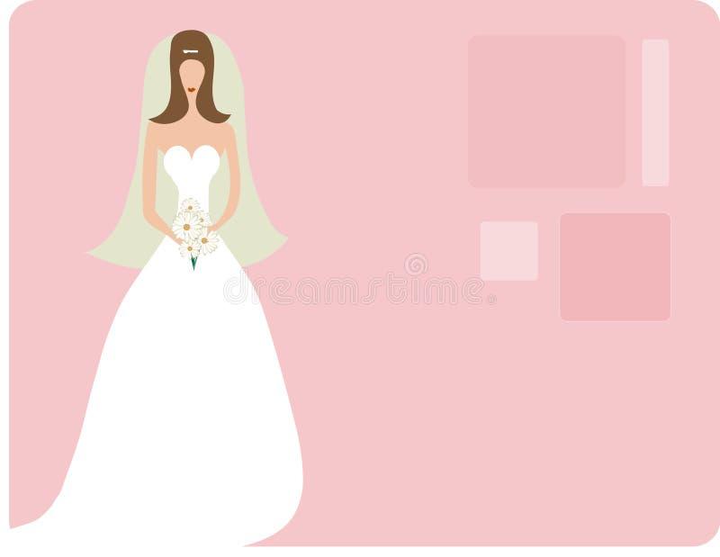 Bruid op roze stock illustratie