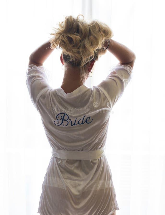 Bruid in Robe royalty-vrije stock afbeeldingen