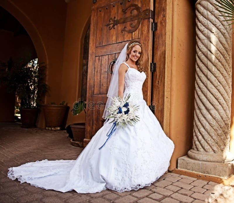 Bruid in Wit stock afbeelding