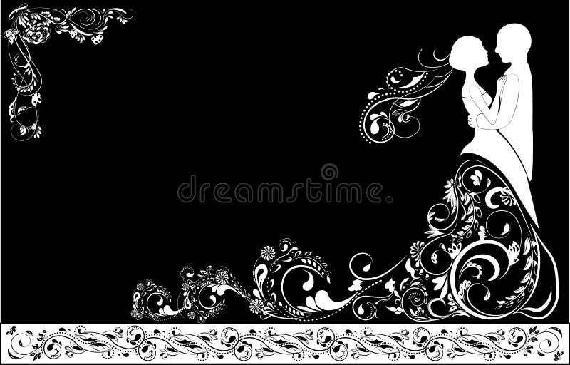Bruidegom en bruid royalty-vrije illustratie