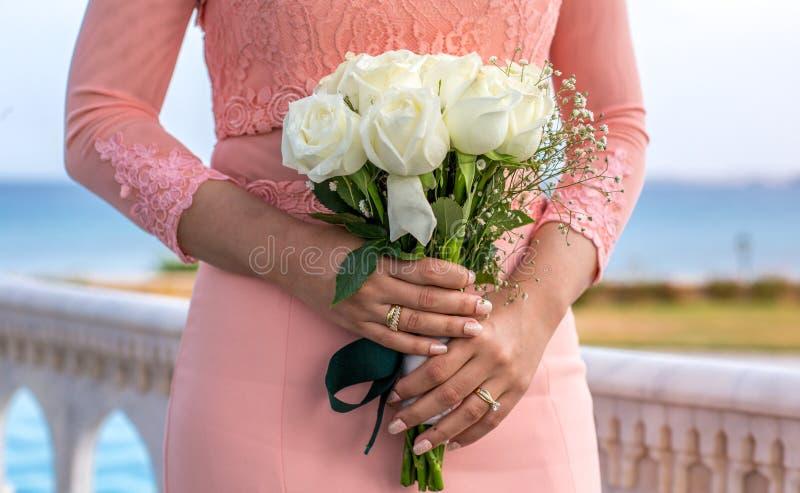 Bruids boeket stock afbeeldingen