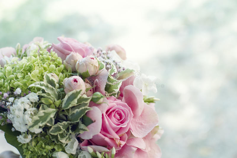 Bruids boeket met copyspace royalty-vrije stock foto's