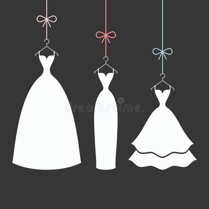 Bruids kleding op een hanger vector illustratie