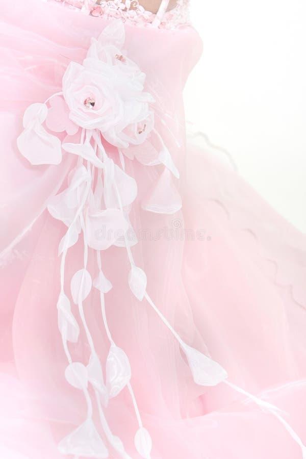 Bruids kledingsdetails royalty-vrije stock foto