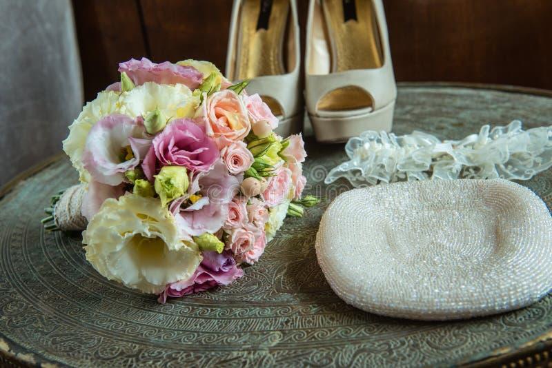 Bruids toebehoren royalty-vrije stock afbeeldingen