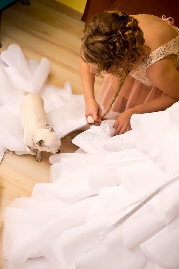 Bruidsmeisje royalty-vrije stock fotografie