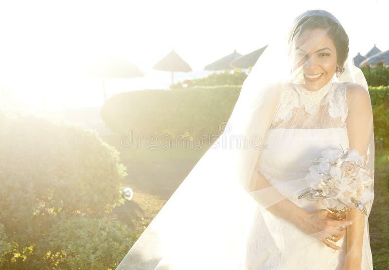 Bruidstrand stock afbeeldingen