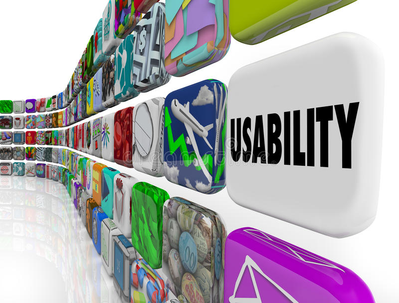 Bruikbaarheidsword het Programma van de Toepassingensoftware Widgets royalty-vrije illustratie