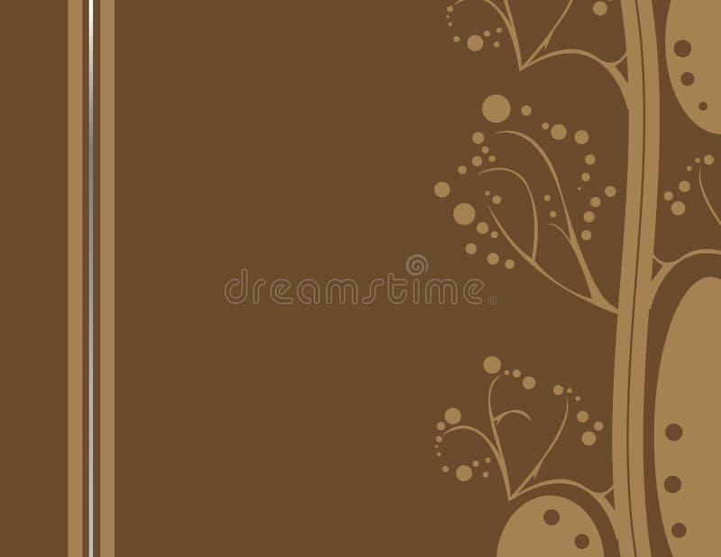 Bruin abstract aardachtig ontwerp 2 royalty-vrije illustratie
