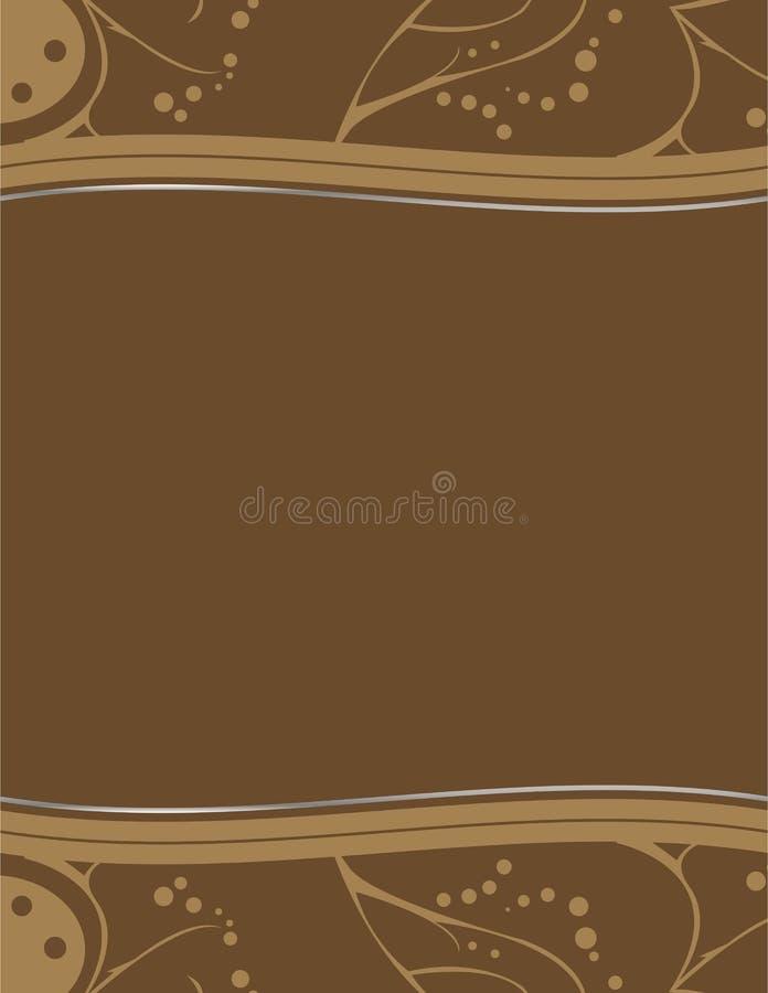 Bruin abstract aardachtig ontwerp 4 stock illustratie