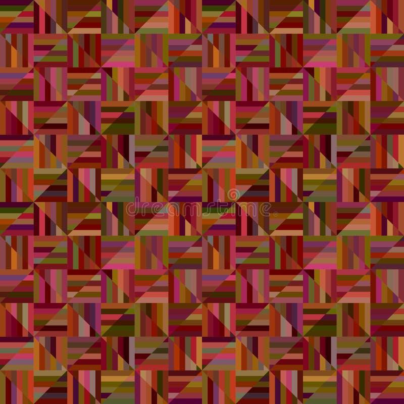 Bruin abstract naadloos gestreept driehoekspatroon - vector betegelde grafische mozaïekachtergrond stock illustratie