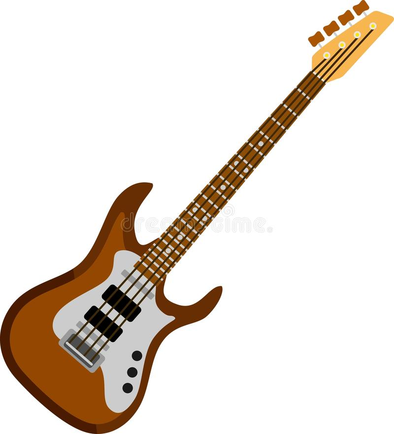 Bruin Bass Guitar vector illustratie