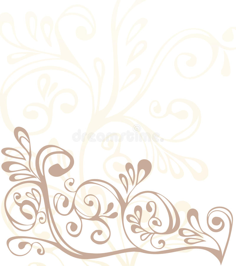 Bruin, beige en wit ornament stock foto's