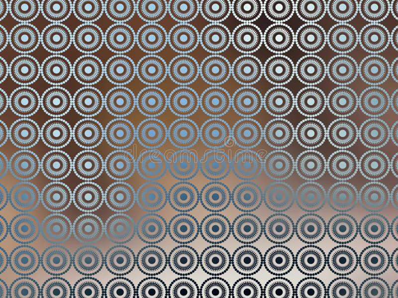 Bruin Blauw Behang Irridescent stock illustratie