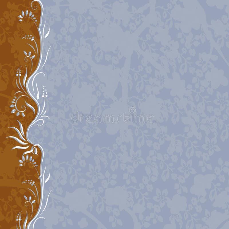Bruin-blauwe achtergrond royalty-vrije illustratie