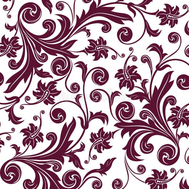 Bruin bloem naadloos patroon stock illustratie