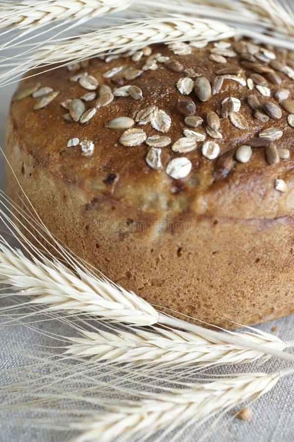 Bruin brood en witte aren royalty-vrije stock foto's