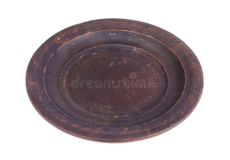 Bruin ceramisch keukengerei stock afbeeldingen