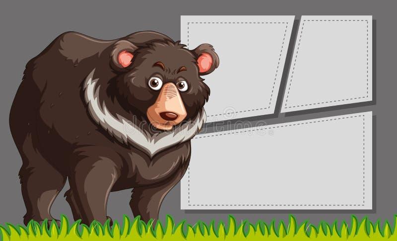 Bruin draag kaderscène stock illustratie